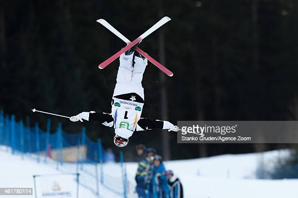 Mikael Kingsbury of Canada takes 1st place during the FIS Freestyle Ski World Championships Men's and Women's Dual Moguls on January 19 2015 in...