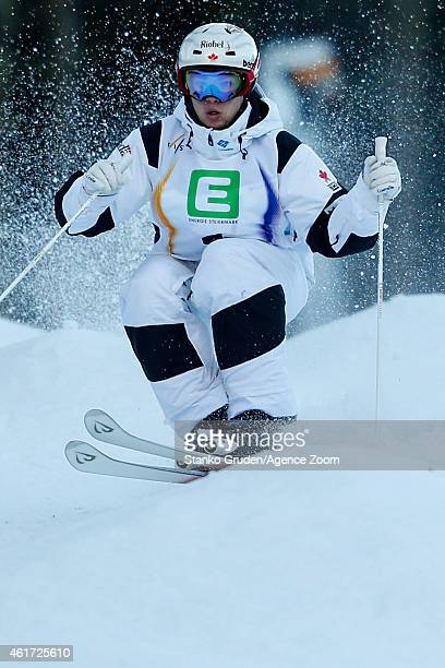 Mikael Kingsbury of Canada takes 2nd place during the FIS Freestyle Ski World Championships Men's and Women's Moguls on January 18 2015 in...