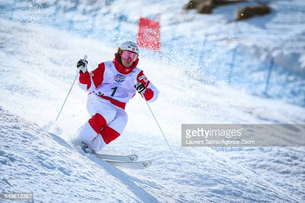 Mikael Kingsbury of Canada wins the bronze medal during the FIS Freestyle Ski Snowboard World Championships Moguls on March 08 2017 in Sierra Nevada...