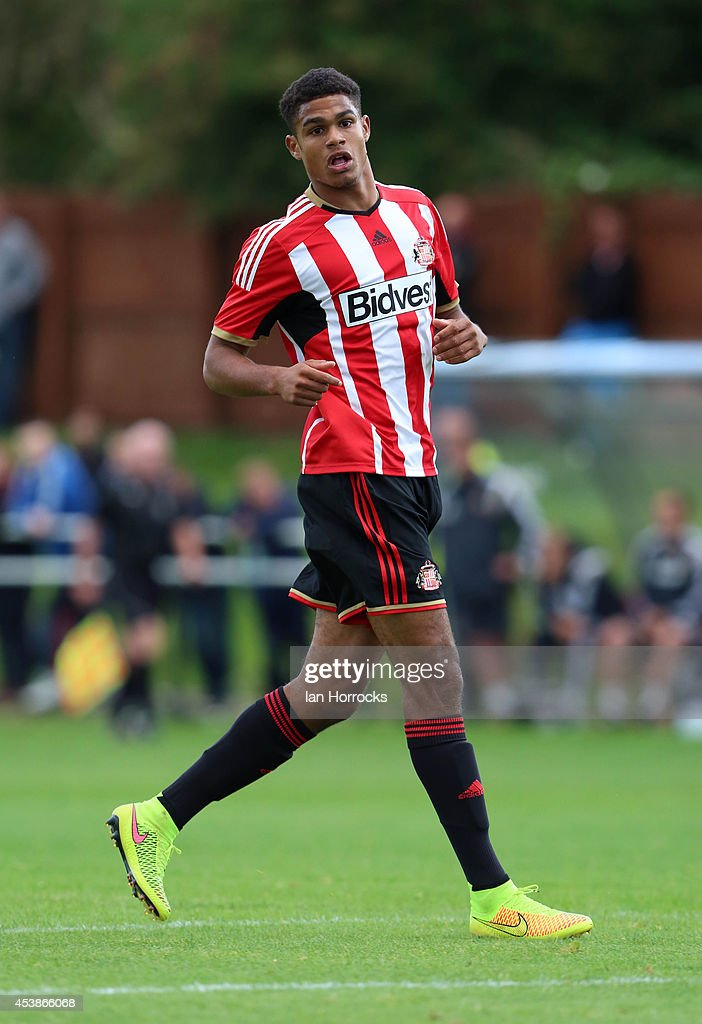 Mikael Mandron of Sunderland during the Barclays U21 Premier League match between Sunderland U21 and Liverpool U21 at Eppleton Colliery Welfare ground on August 19, 2014 in Hetton Le Hole, England.