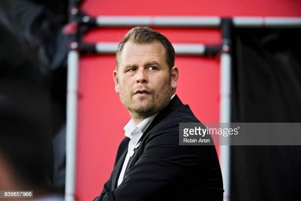 Mikael Stahre head coach before the Allsvenskan match between BK Hacken and Jonkopings Sodra IF at Bravida Arena on August 27 2017 in Gothenburg...