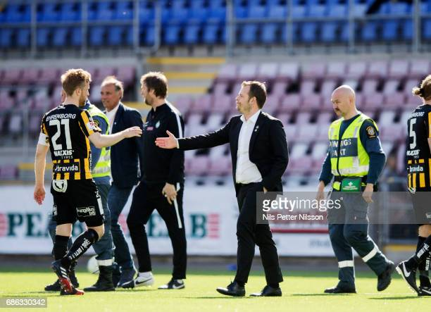 Mikael Stahre head coach of BK Hacken after the Allsvenskan match between Athletic Eskilstuna FC and BK Hacken at Tunavallen on May 21 2017 in...
