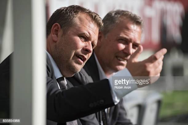 Mikael Stahre head coach of BK Hacken before the Allsvenskan match between IFK Goteborg and BK Hacken at Gamla Ullevi on August 20 2017 in Gothenburg...