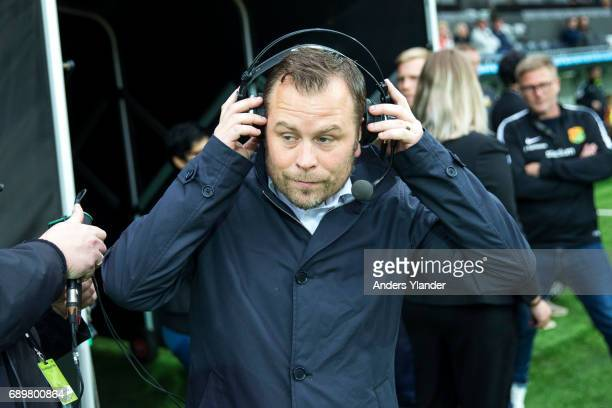 Mikael Stahre head coach of BK Hacken during a interview prior to the Allsvenskan match between BK Hacken and Ostersunds FK at Bravida Arena on May...