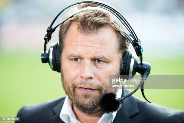 Mikael Stahre head coach of BK Hacken during an interview prior to the Allsvenskan match between BK Hacken and Orebro SK at Bravida Arena on July 31...