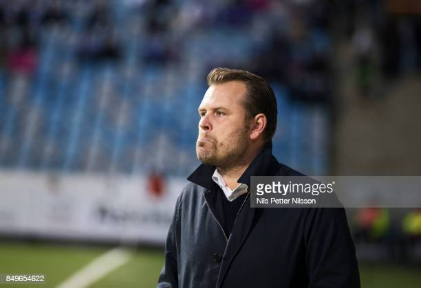 Mikael Stahre head coach of BK Hacken during the Allsvenskan match between IFK Norrkoping and BK Hacken at Nya Parken on September 19 2017 in...
