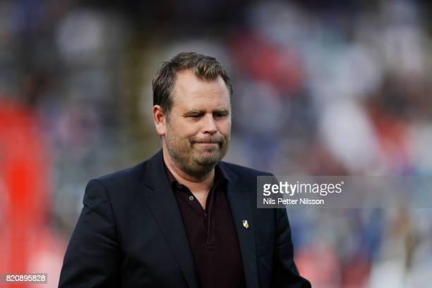 Mikael Stahre head coachof BK Hacken during the Allsvenskan match between IK Sirius FK and BK Hacken at Studenternas IP on July 22 2017 in Uppsala...