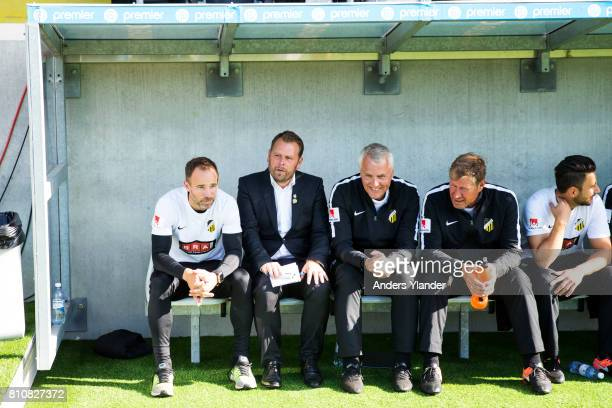 Mikael Stahre head coachof BK Hacken looks on during the Allsvenskan match between BK Hacken and Malmo FF at Bravida Arena on July 8 2017 in...