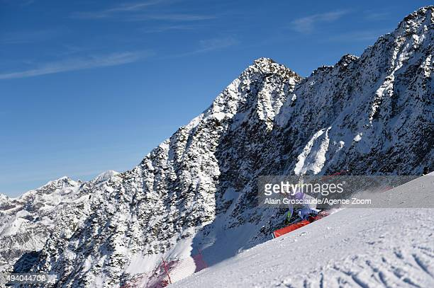 Mikaela Shiffrin of the United States takes 2nd place during the Audi FIS Alpine Ski World Cup Women's Giant Slalom on October 24 2015 in Soelden...