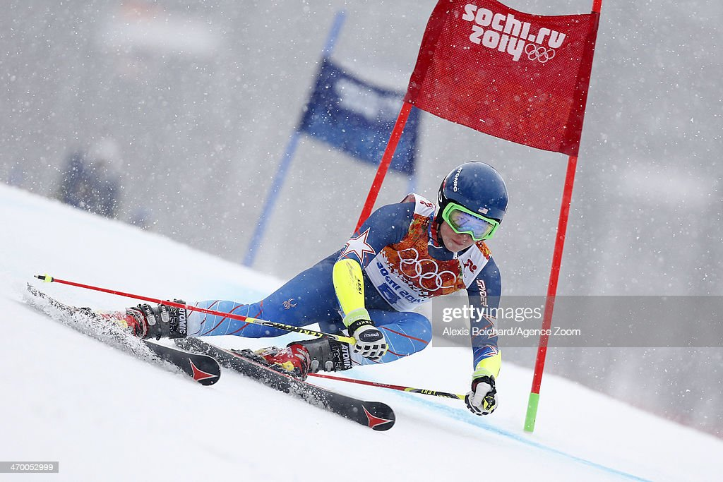 Mikaela Shiffrin of the USA competes during the Alpine Skiing Women's Giant Slalom at the Sochi 2014 Winter Olympic Games at Rosa Khutor Alpine Centre on February 18, 2014 in Sochi, Russia.