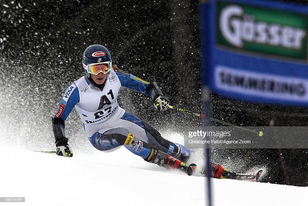 Mikaela Shiffrin of the USA competes during the Audi FIS Alpine Ski World Cup Women's Giant Slalom on December 28, 2012 in Semmering, Austria.