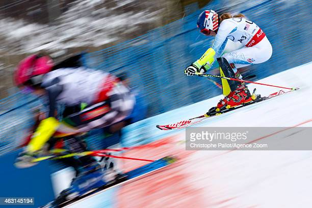 Mikaela Shiffrin of the USA competes during the FIS Alpine World Ski Championships Nations Team Event on February 10 2015 in Beaver Creek Colorado