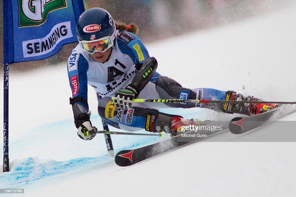 Mikaela Shiffrin of the USA competes in the Audi FIS Alpine Ski World Cup Giant Slalom Race on December 28, 2012 in Semmering, Austria.