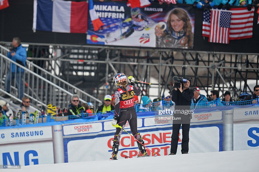 Mikaela Shiffrin of The USA competes in the Audi FIS Alpine Skiing World Cup Finals Slalom on March 16, 2014 in Lenzerheide, Switzerland.