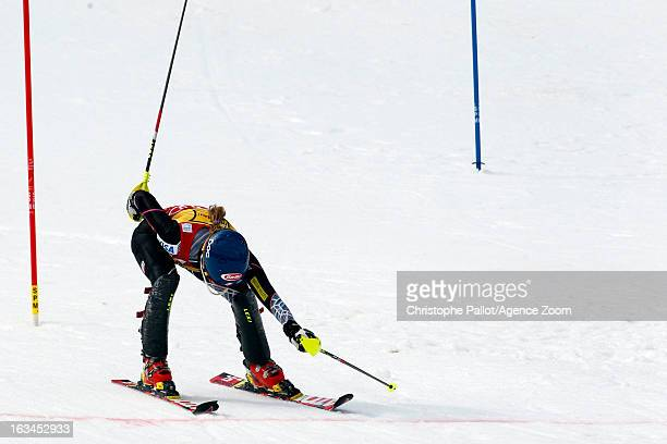 Mikaela Shiffrin of the USA takes 3rd place competes during the Audi FIS Alpine Ski World Cup Women's Slalom on March 10 2013 in Ofterschwang Germany