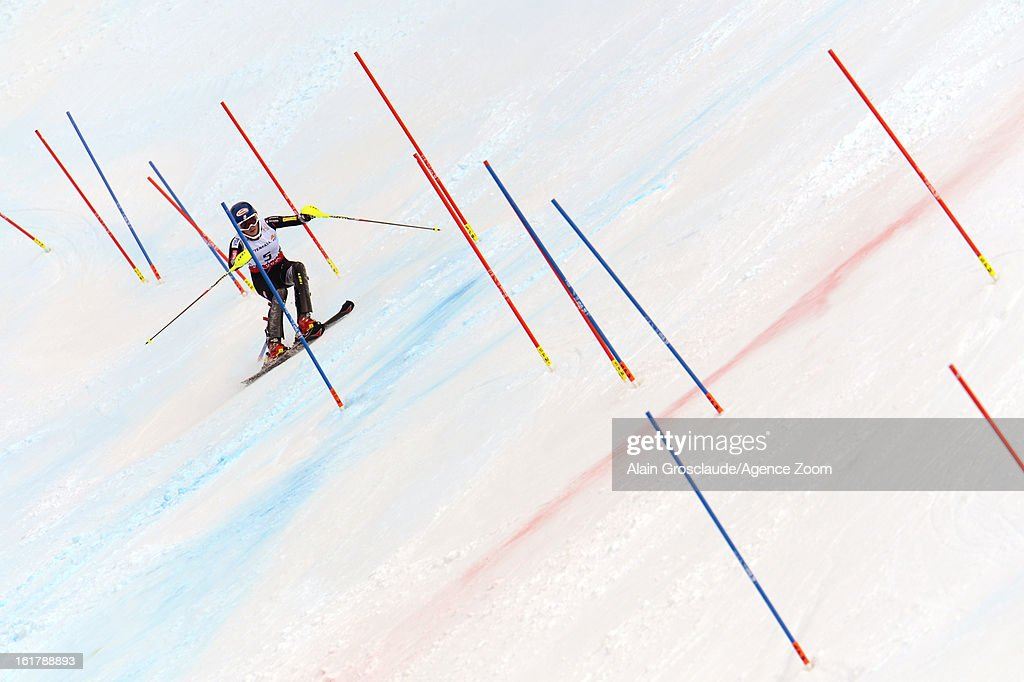 <a gi-track='captionPersonalityLinkClicked' href=/galleries/search?phrase=Mikaela+Shiffrin&family=editorial&specificpeople=7472698 ng-click='$event.stopPropagation()'>Mikaela Shiffrin</a> of the USA wins the gold medal during the Audi FIS Alpine Ski World Championships Women's Slalom on February 16, 2013 in Schladming, Austria.