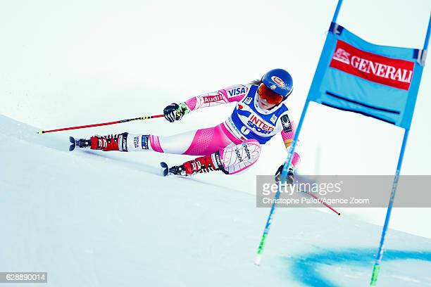 Mikaela Shiffrin of USA competes during the Audi FIS Alpine Ski World Cup Women's Giant Slalom on December 10 2016 in Sestriere Italy