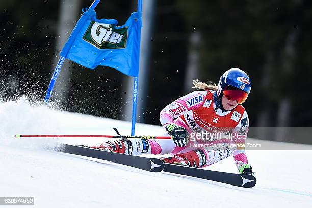 Mikaela Shiffrin of USA competes during the Audi FIS Alpine Ski World Cup Women's Giant Slalom on December 27 2016 in Semmering Austria