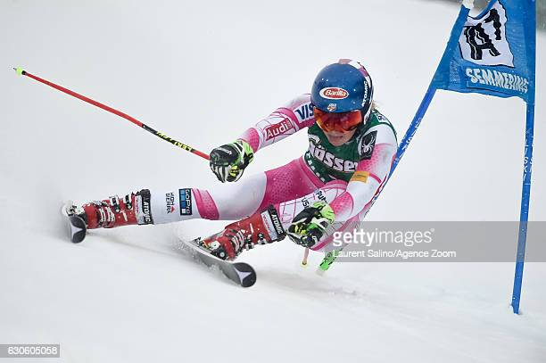 Mikaela Shiffrin of USA competes during the Audi FIS Alpine Ski World Cup Women's Giant Slalom on December 28 2016 in Semmering Austria