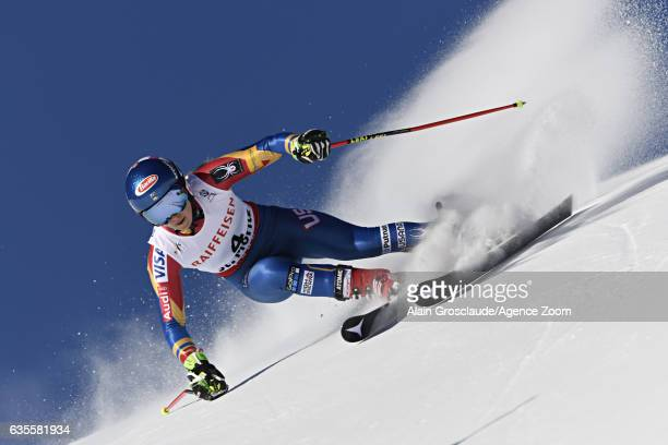 Mikaela Shiffrin of USA competes during the FIS Alpine Ski World Championships Women's Giant Slalom on February 16 2017 in St Moritz Switzerland