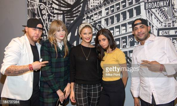 Mike 2ESAE Baca Tennessee Thomas Kyleigh Kuhn Ysa Perez and Fernando Ski Romero attend the Joe Fresh Soho opening party at Joe Fresh Soho on October...
