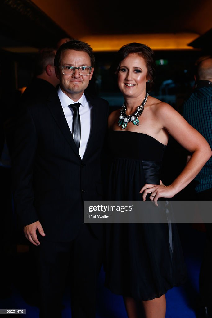Mike and Kate Hesson during the New Zealand Cricket Awards at The Langham Hotel on April 1, 2015 in Auckland, New Zealand.