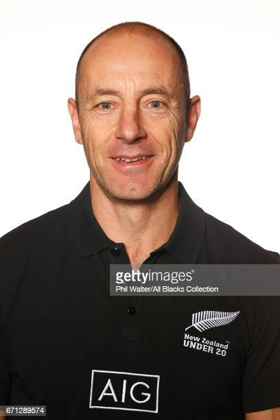 Mike Anthony poses during the New Zealand U20 Headshots Session at Novotel Auckland Airport on April 22 2017 in Auckland New Zealand