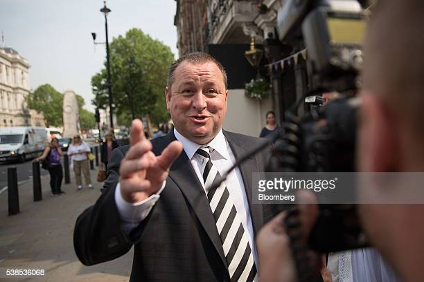 Mike Ashley billionaire founder of Sports Direct International Plc reacts as he arrives to give evidence at a Business Innovation and Skills...