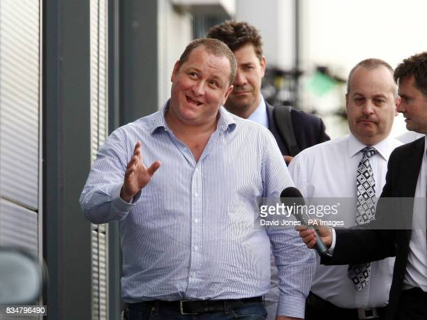 Mike Ashley owner of Newcastle United football club leaves the AGM of his company Sports Direct International in Shirebrook Nottingham today