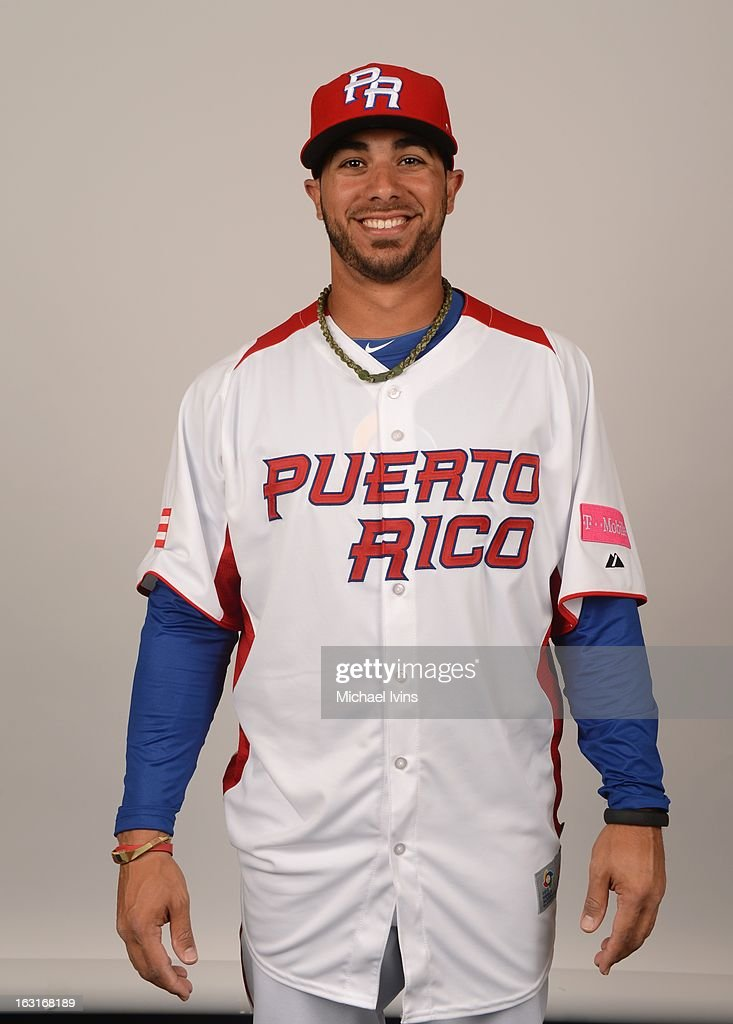 <a gi-track='captionPersonalityLinkClicked' href=/galleries/search?phrase=Mike+Aviles&family=editorial&specificpeople=4944765 ng-click='$event.stopPropagation()'>Mike Aviles</a> #14 of Team Puerto Rico poses for a headshot for the 2013 World Baseball Classic at the City of Palms Baseball Complex on Monday, March 4, 2013 in Fort Myers, Florida.