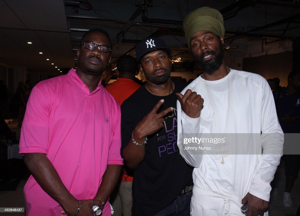 Mike B, Smiley, and Groovey Lou attend Rocawear's 10th Anniversary party at the Rocawear Showroom on August 10, 2009 in New York City.