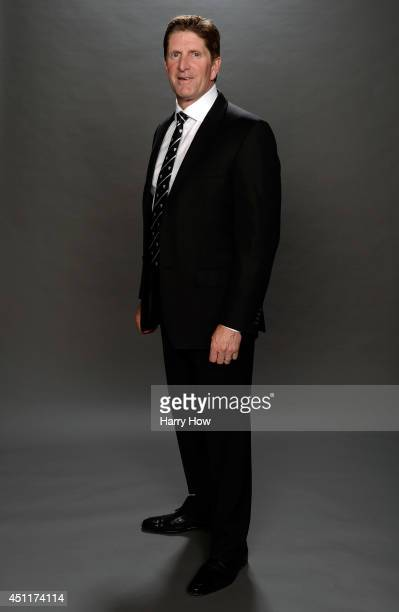 Mike Babcock of the Detroit Red Wings poses for a portrait during the 2014 NHL Awards at Encore Las Vegas on June 24 2014 in Las Vegas Nevada