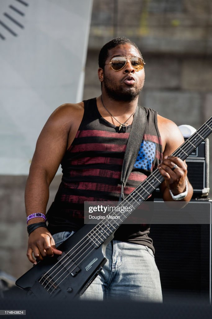 Mike Ballard performs with Trombone Shorty during the 2013 Newport Folk Festival at Fort Adams State Park on July 27, 2013 in Newport, Rhode Island.