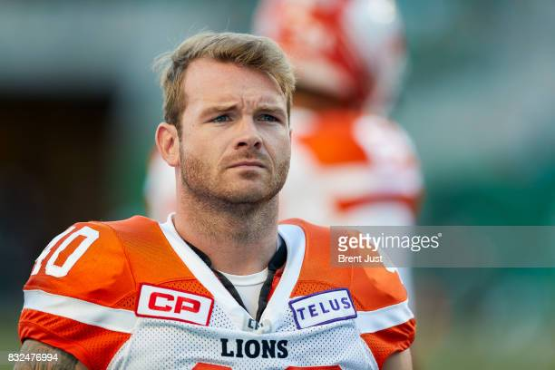 Mike Benson of the BC Lions on the sideline during the game between the BC Lions and the Saskatchewan Roughriders at Mosaic Stadium on August 13 2017...