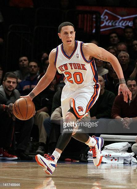 Mike Bibby of the New York Knicks in action against the Toronto Raptors on January 2 2012 at Madison Square Garden in New York City The Raptors...