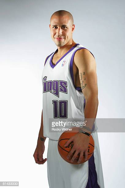 Mike Bibby of the Sacramento Kings poses during the Kings Media Day on October 1 2004 at Arco Arena in Sacramento California NOTE TO USER User...