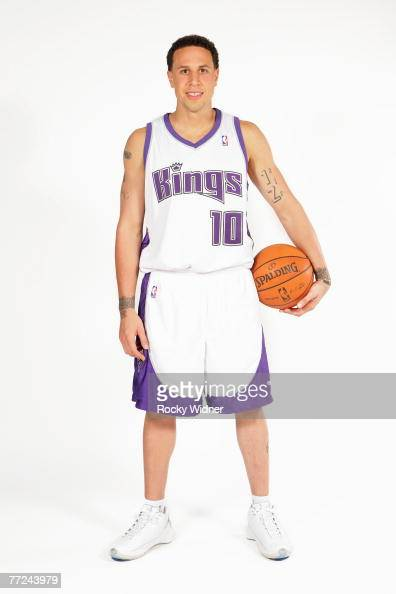 Mike Bibby of the Sacramento Kings poses for a portrait during Media Day on October 1 2007 at the Practice Facility in Sacramento California NOTE TO...