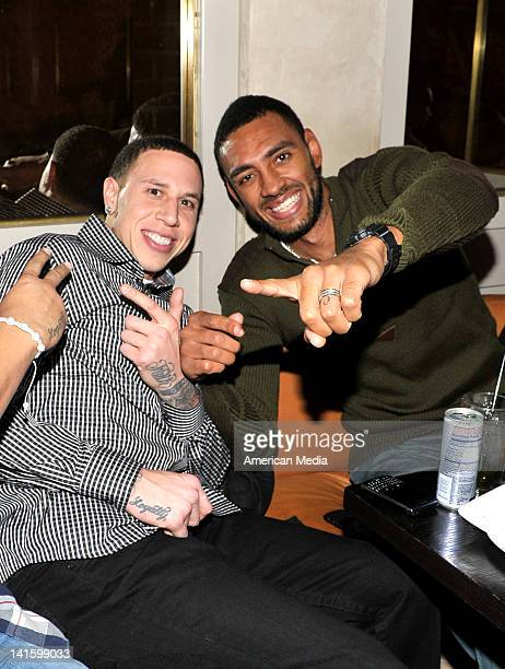 Mike BibbyJared Jeffries attend Kris Humphries' 27th birthday party at Abe Arthur's on February 4 2012 in New York City