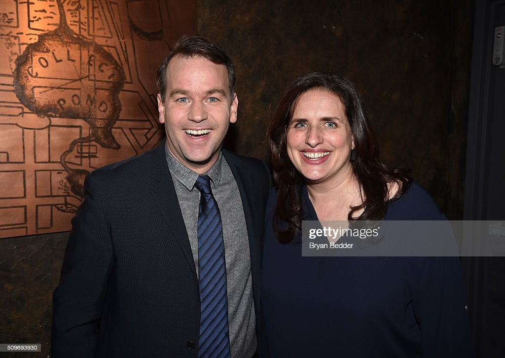 <a gi-track='captionPersonalityLinkClicked' href=/galleries/search?phrase=Mike+Birbiglia&family=editorial&specificpeople=4111852 ng-click='$event.stopPropagation()'>Mike Birbiglia</a> and guest attend '<a gi-track='captionPersonalityLinkClicked' href=/galleries/search?phrase=Mike+Birbiglia&family=editorial&specificpeople=4111852 ng-click='$event.stopPropagation()'>Mike Birbiglia</a>: Thank God For Jokes' Opening Night at the Lynn Redgrave Theatre on February 11, 2016 in New York City.