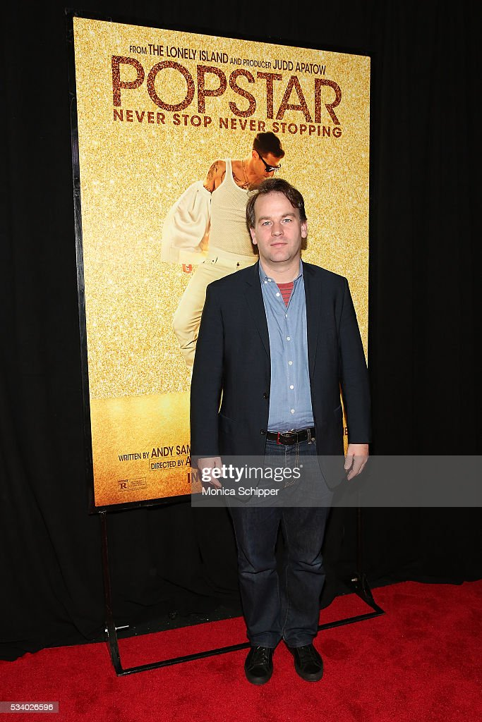 <a gi-track='captionPersonalityLinkClicked' href=/galleries/search?phrase=Mike+Birbiglia&family=editorial&specificpeople=4111852 ng-click='$event.stopPropagation()'>Mike Birbiglia</a> attends 'Popstar: Never Stop Never Stopping' New York Premiere at AMC Loews Lincoln Square 13 theater on May 24, 2016 in New York City.
