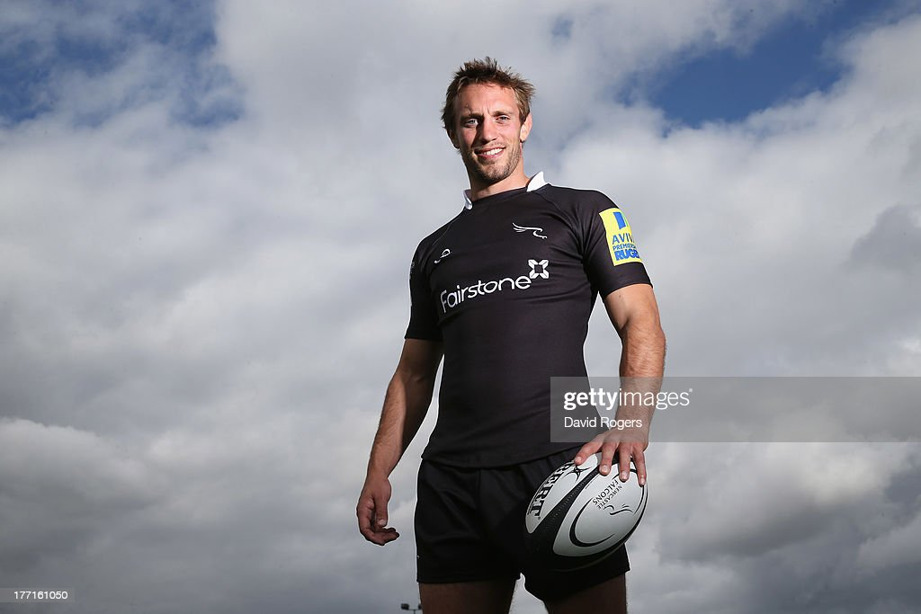 <a gi-track='captionPersonalityLinkClicked' href=/galleries/search?phrase=Mike+Blair&family=editorial&specificpeople=573619 ng-click='$event.stopPropagation()'>Mike Blair</a>, the Newcastle Falcons scrumhalf, poses at the photocall held at Kingston Park on August 21, 2013 in Newcastle upon Tyne, England.
