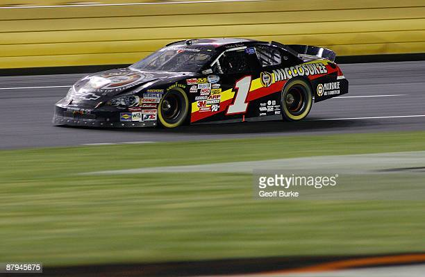 Mike Bliss driver of the Miccosukee Indian Gaming Resort Chevrolet races during the NASCAR Nationwide Series CARQUEST Auto Parts 300 on May 23 2009...