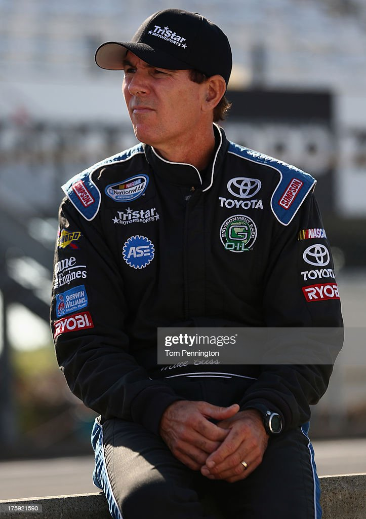Mike Bliss, driver of the #19 TriStar Motorsports Toyota, leans on the pit wall during qualifying for the NASCAR Nationwide Series Zippo 200 at The Glen at Watkins Glen International on August 10, 2013 in Watkins Glen, New York.