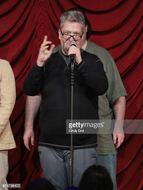 Mike Bocchetti takes part in SiriusXM host Ron Bennington's annual Thanksgiving Special at Hard Rock Cafe Times Square on November 14 2017 in New...