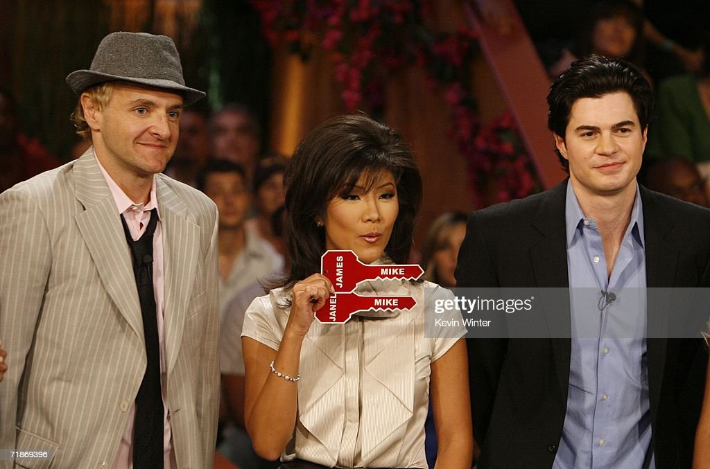 Mike 'Boogie' Malin with host Julie Chen and Will Kirby wins the grand prize of $500000 by a vote of 6 to 1 over Erika Landin at 'Big Brother 7...