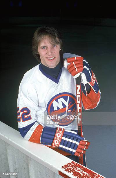 Mike Bossy of the New York Islanders poses for a portrait in January of 1984 Mike Bossy played for the Islanders from 1977 1987