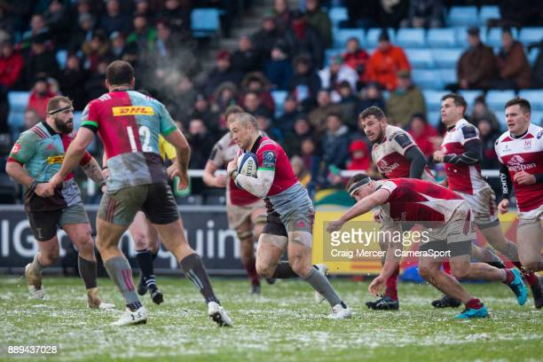 Mike Brown of Harlequins in action during the European Rugby Champions Cup match between Harlequins and Ulster Rugby at Twickenham Stoop on December...