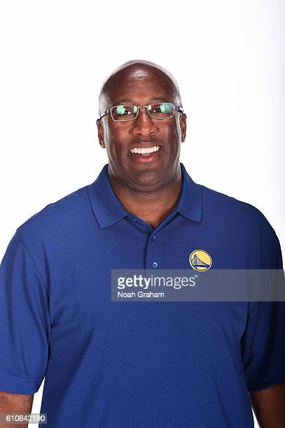 Mike Brown of the Golden State Warriors poses for a portrait during NBA Media Day at Oracle Arena in Oakland California on September 26 2016 NOTE TO...