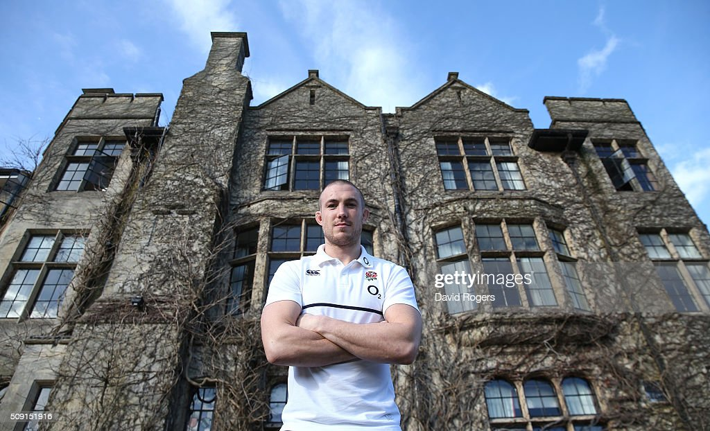 Mike Brown, the England fullback, poses during the England media sessiion held at Pennyhill Park on February 9, 2016 in Bagshot, England.