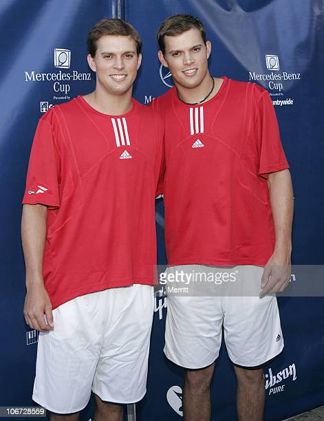 Mike Bryan and Bob Bryan during Gibson/Baldwin Presents 'Night at the Net' at the 78th Annual MercedesBenz Cup Benefiting MusiCares Foundation at Los...